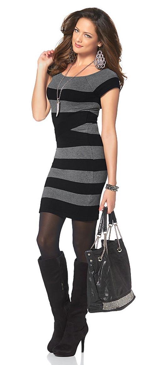 Společenské podzimní šaty