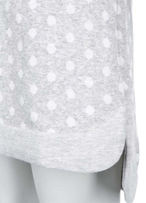 Teplé zimní puntíkované šaty