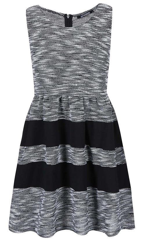 Úpletové černo-šedé žíhané šaty Haily´s Giorgia