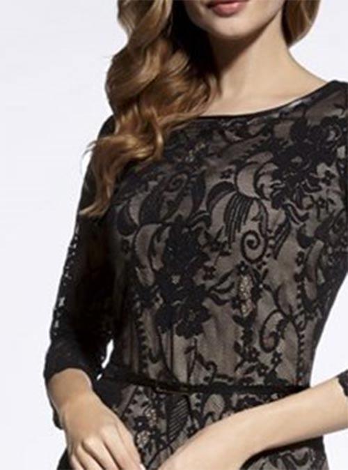 Černé šaty s krajkou na pohřeb