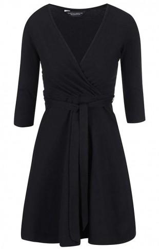 Černé šaty s výstřihem Dorothy Perkins