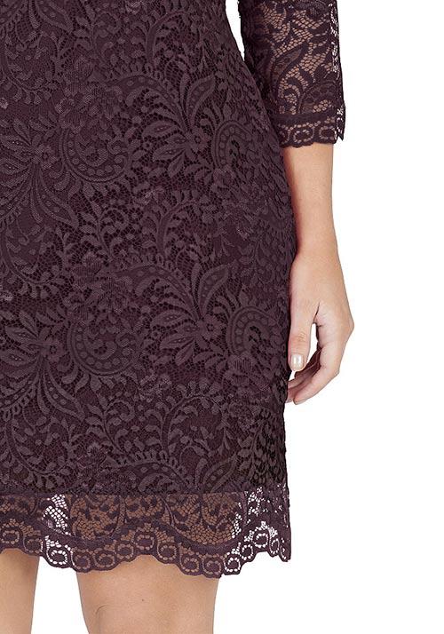 Plesové bordó šaty