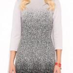 Šaty Brittany s drobným vzorkem černošedé barvy