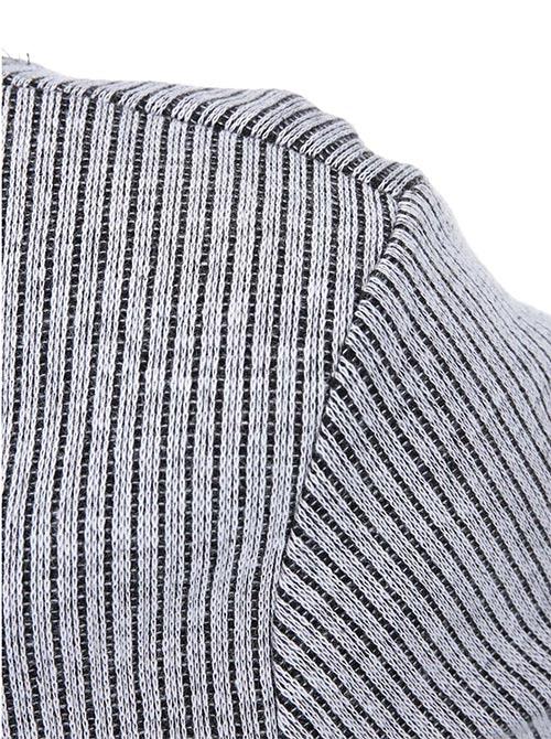 Bavlněné pletené šaty s jemným proužkem