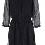 Černé šaty s třpytivou aplikací Vero Moda Hitta