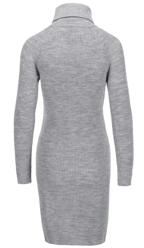 Teplé zimní pletené vlněné šaty