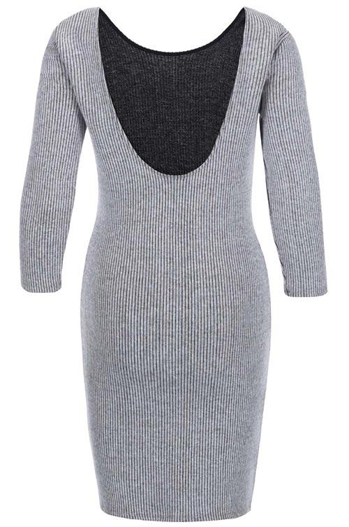 Úpletové zimní šaty