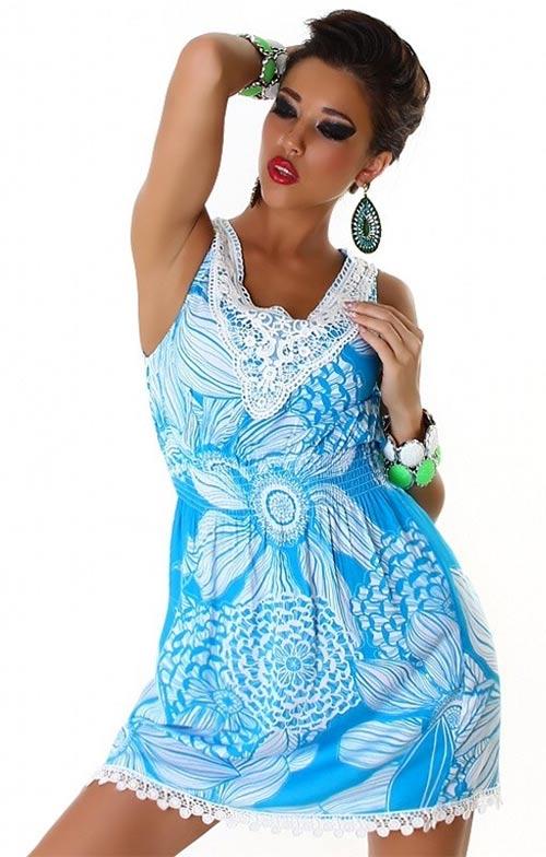 Bavlněné dámské letní šaty na dovolenou