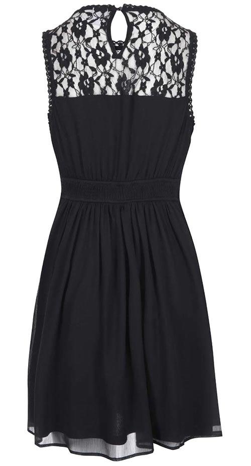 Černé krajkové šaty