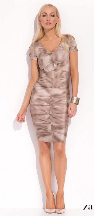 Dámské stretchové šaty Shari leslého vzhledu