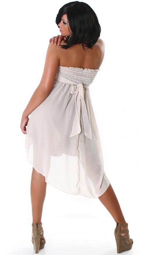 Poloprůhledné bílé letní šaty