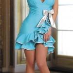 Modré šaty na latinsko americké tance