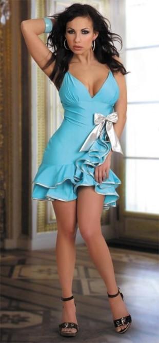 a7c2cca462bc Modré šaty na latinsko americké tance