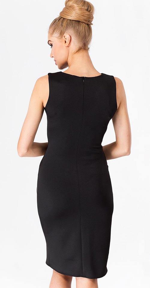 Černé společenské šaty bez rukávů