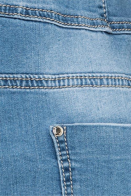 Dámské jeansové šaty s ošoupáním