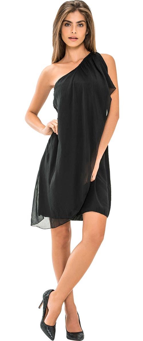 Levné černé dámské šaty