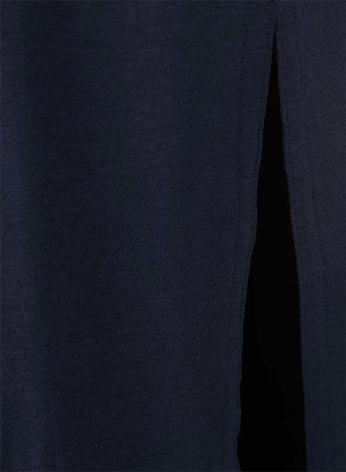 Modré dámské šaty ke kotníkům