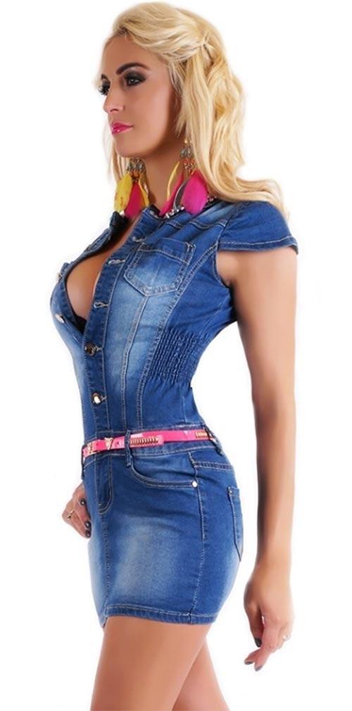 Sexy dámské džínové minišaty