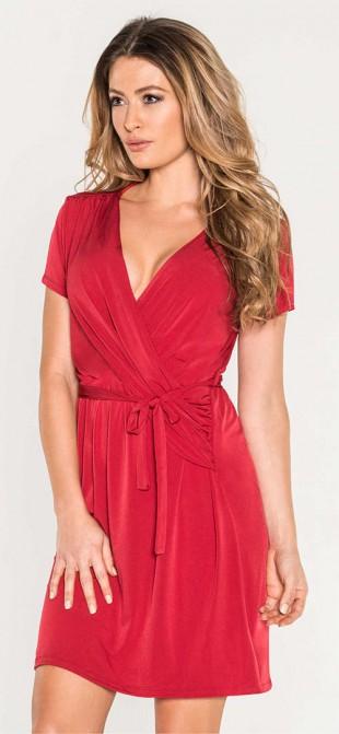 Elegantní červené šaty na svatbu