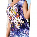 Italské květované plážové šaty s ručně přišitými třásněmi