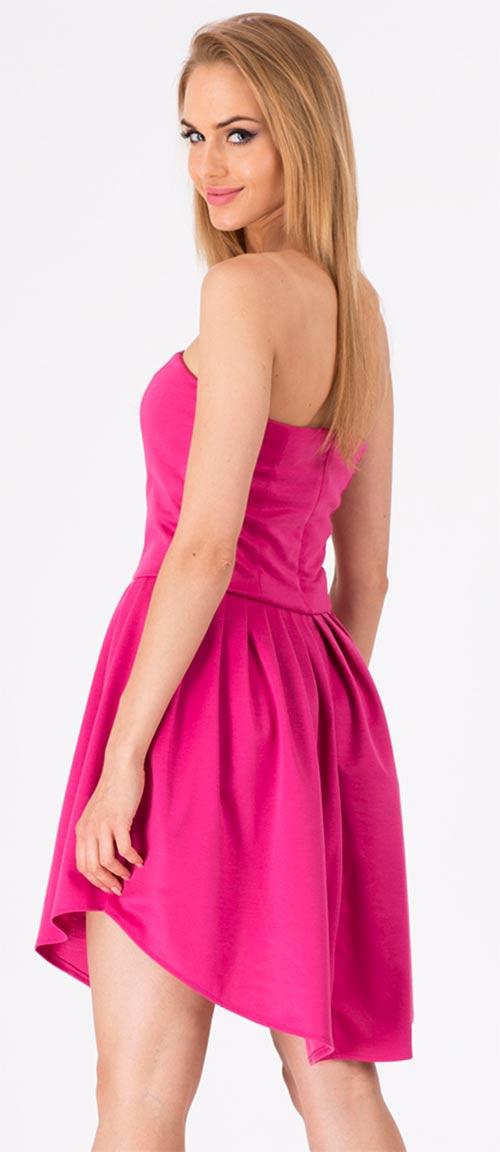 Růžové dámské letní šaty