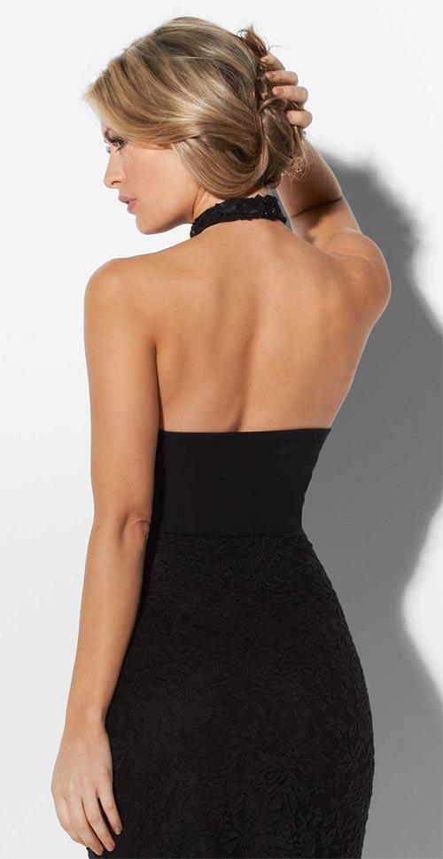 Společenské šaty s odhalenými zády