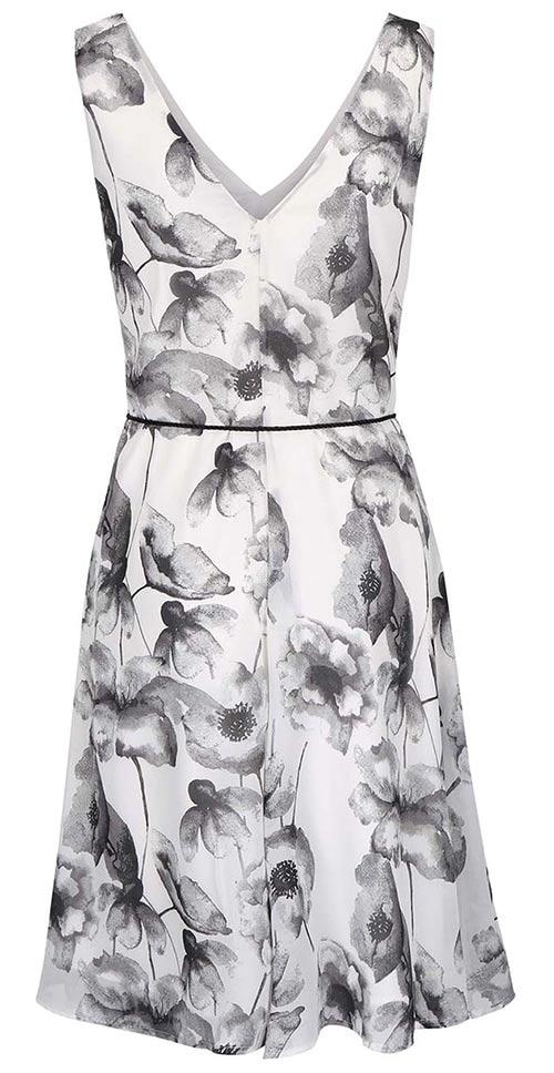Černobílé dámské letní šaty