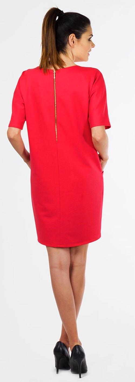Červené dámské šaty na zip