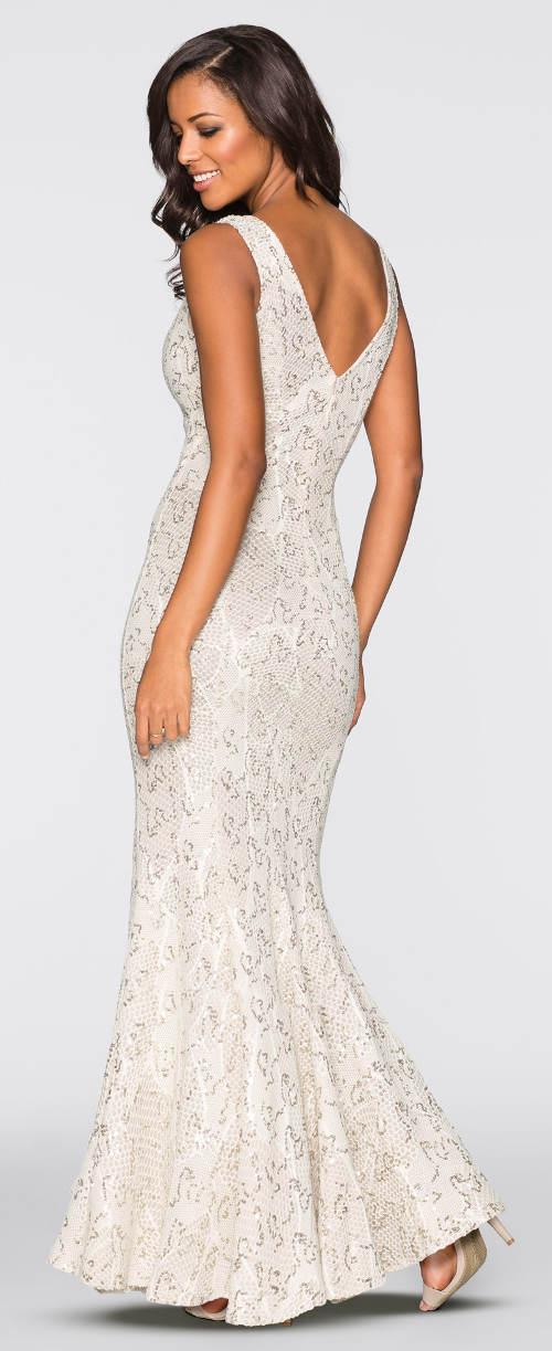 Dlouhé bílé splývavé šaty
