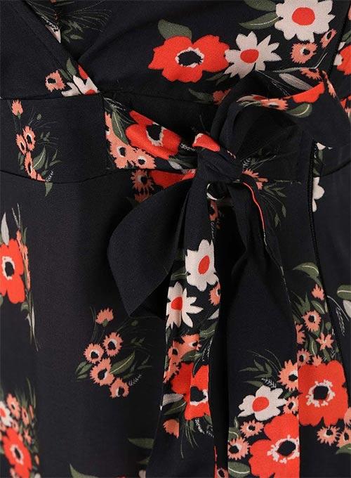 Květinové šaty s mašličkou