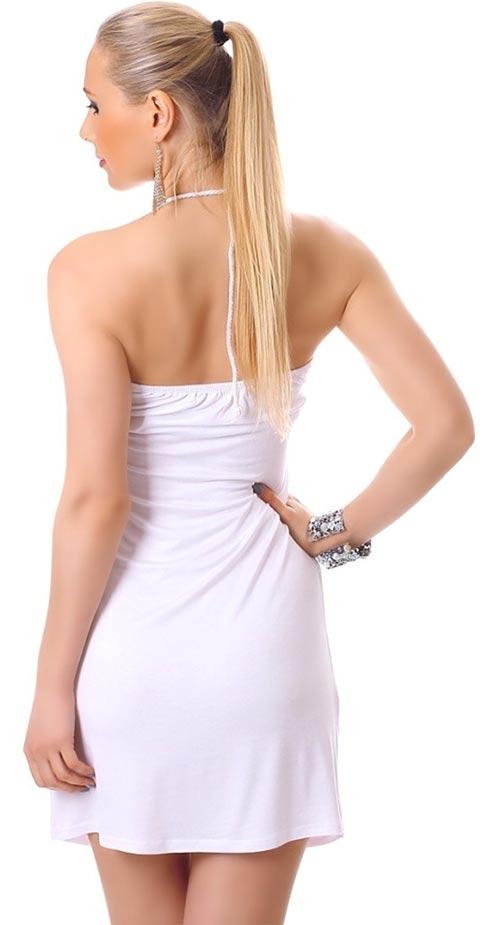 Lehounké plážové šaty se zavazováním za krkem