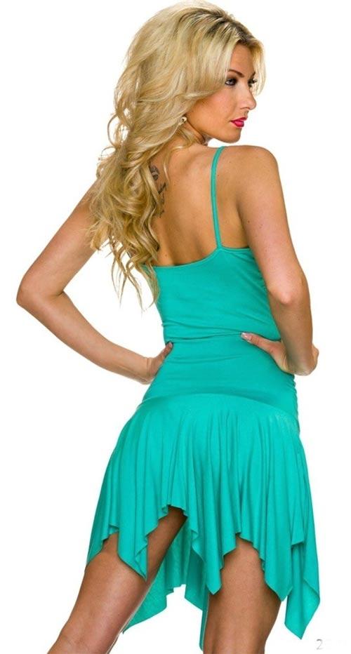 Letní dámské šaty na tenká ramínka