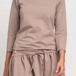 Stylové letní šaty ve sportovním stylu s 3/4 rukávem