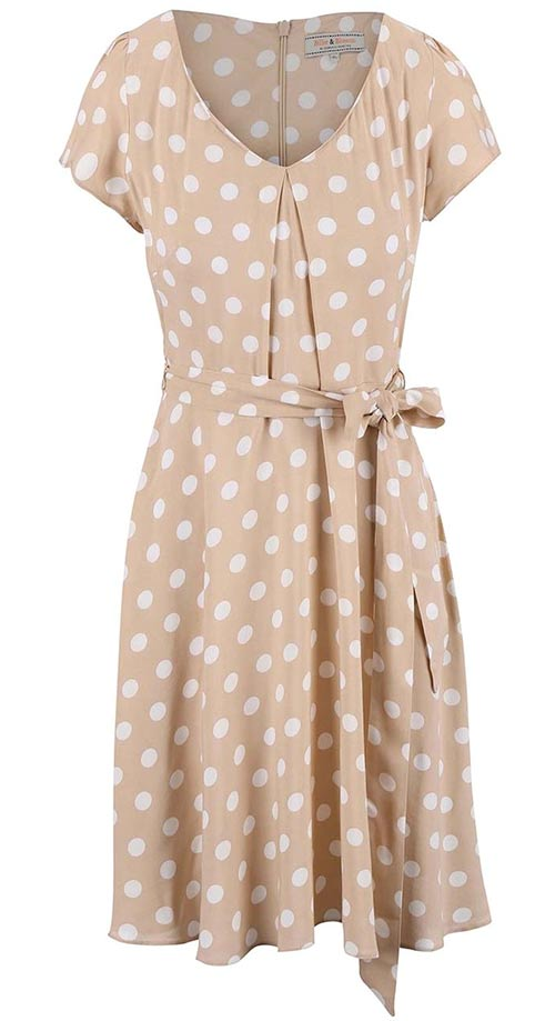 Světlé letní retro šaty