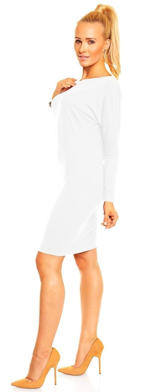 Bílé vzdušné letní šaty