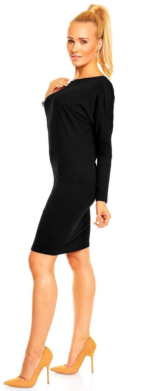 Černé šaty s dlouhými rukávy