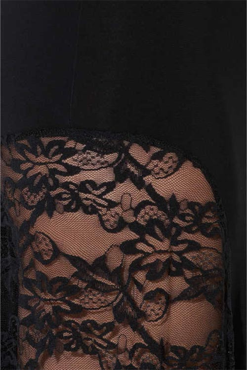 Černé šaty s květinovou krajkou