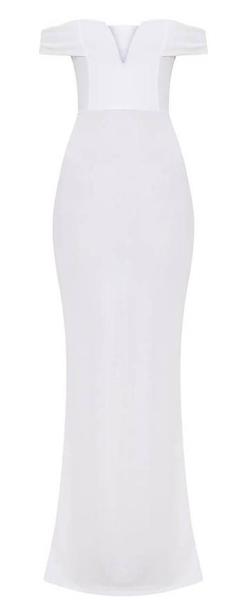 Dlouhé bílé princeznovské šaty