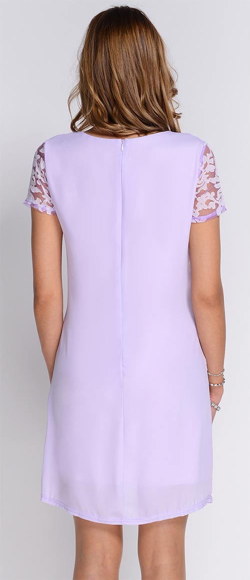 Fialové šaty pro družičky