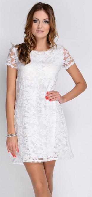 Lehounké šaty s krátkým rukávem a květinovým vzorem
