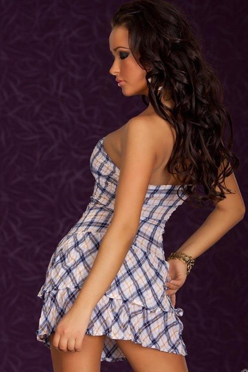 Letní minišaty s korzetovou sukní