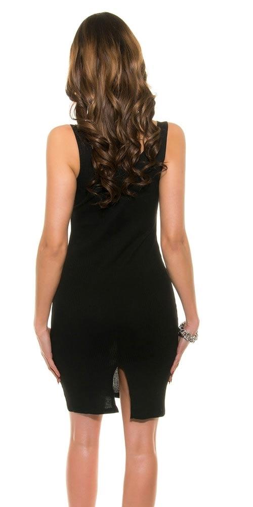 Sexy černé mini šaty