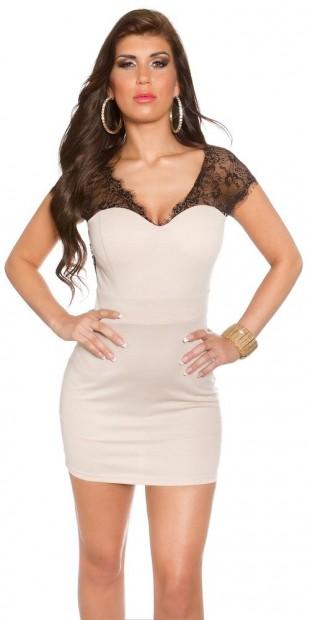 Společenské mini šaty s krajkovými ramínky c948a3d2b20