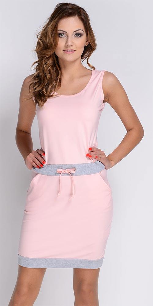 Světle růžové letní sportovní šaty