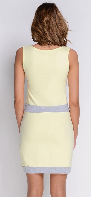 Žluté šaty sportovního střihu Žluté šaty sportovního střihu Světle růžové  letní ... 58c4792e94