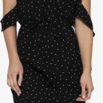 Asymetrické volánkové šaty na jedno rameno