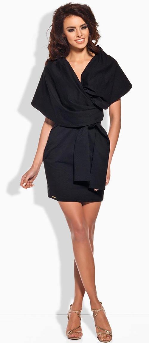 Černé zavinovací šaty