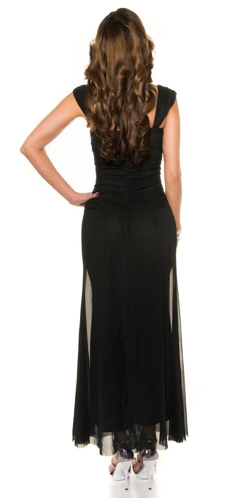 Dlouhé černé plesové šaty