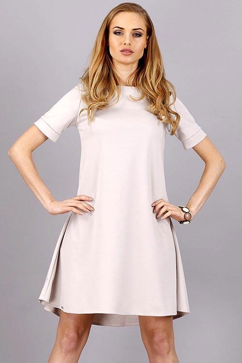 Lehounké šaty s krátkým rukávem