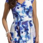 Modrobílé květované značkové šaty Enny 210027